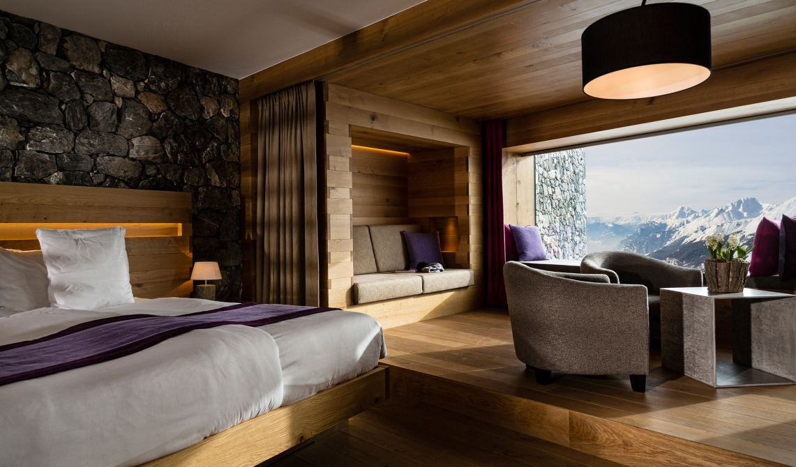 Chetzeron crans montana switzerland design hotels for Designhotel ski