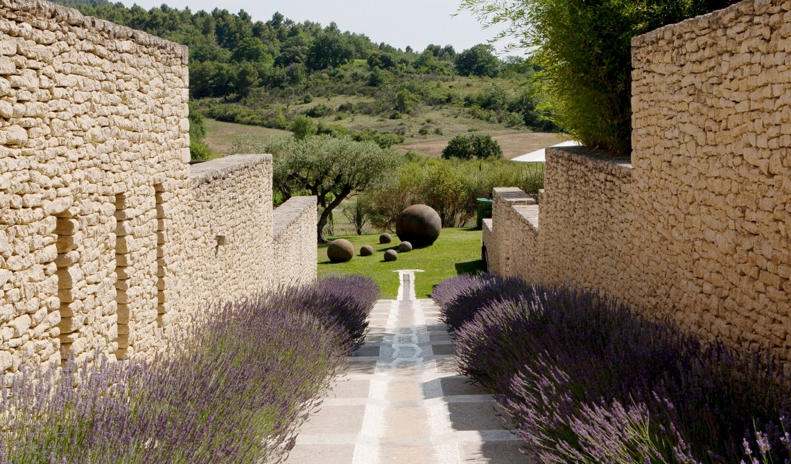 Domaine des Andeols Stone Wall in Provence