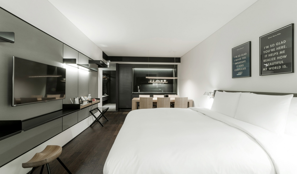 architecture design at glad hotel yeouido in seoul