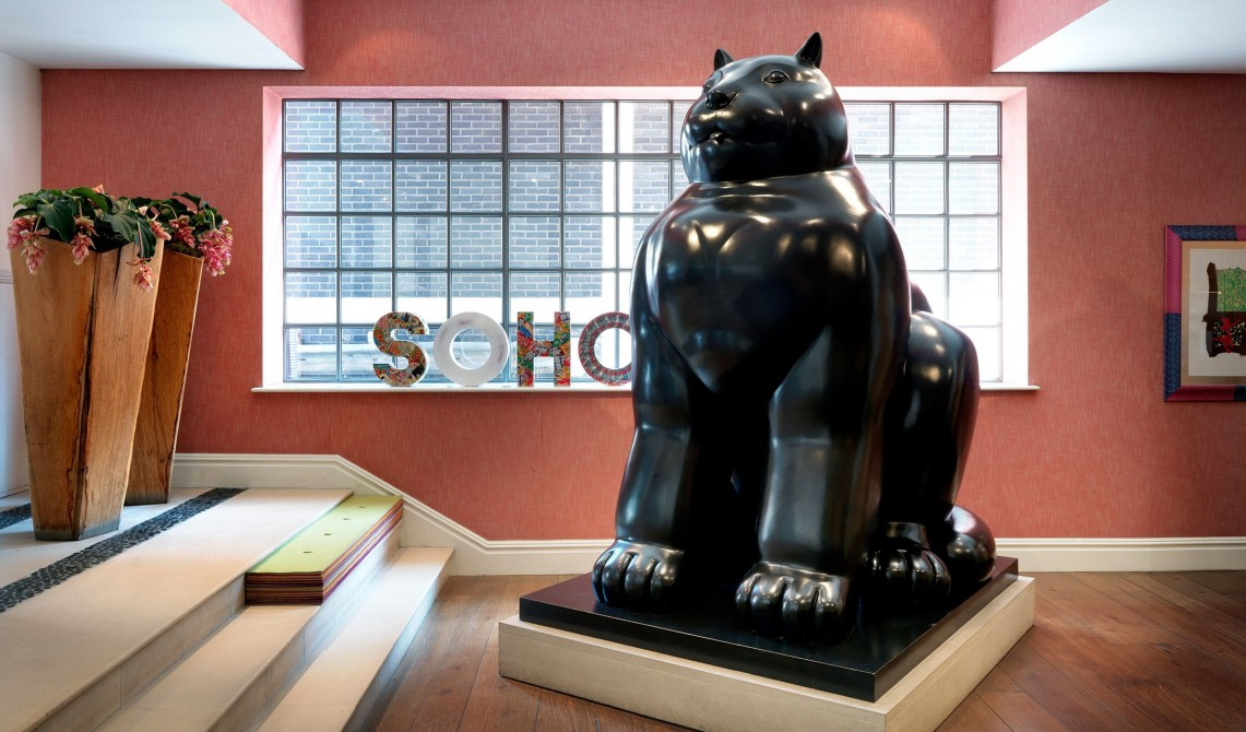 The Soho Hotel Sculpture in London
