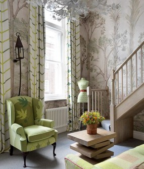 Charlotte Street Hotel Guestroom Wallpaper Design in London
