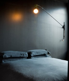 Interior Design dark bedroom La Maison Champs Elysees