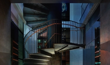 11 Howard Architecture Staircase By Night M 05