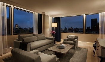 11 Howard Living Room Interior Design City View By Night M 16