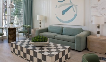 Avalon Hotel Beverly Hills Room Design in Los Angeles