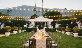 Avalon Hotel Palm Springs Garden Dining Table in Palm Spings