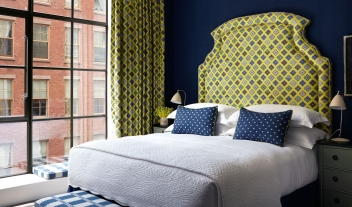 Crosby Street Hotel Bedroom City View Interior Design Details M 13 R