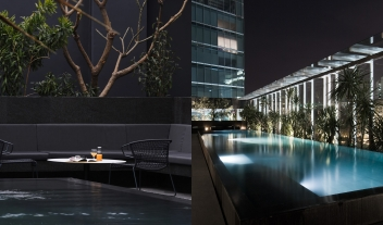 Distrito Capital Terrace Lounge Pool View By Night M 14 R