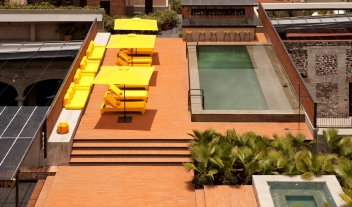 Downtown Mexico Rooftop Terrace Pool Bar M 06 R
