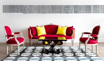 Haymarket Lobby Red Sofa Chairs Wall Art M 15 R