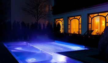 Hotel Bachmair Weissach Outdoor Pool By Night M 07 R