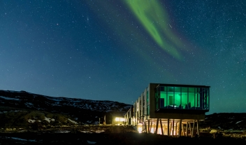 Ion Luxury Adventure Hotel Architecture Northern Lights Night View M 11 R