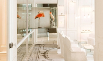 La Maison Champs Elysees White Lounge Interior Detail Birds M 10 R