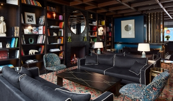 Le Roch Hotel Library in Paris