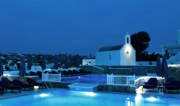 Myconian Kyma Night View in Mykonos