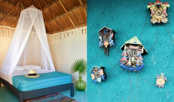 Papaya Playa Project Cuckoo Clocks in Tulum