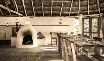 Papaya Playa Project Fireplace Restaurant Dining M 01 R