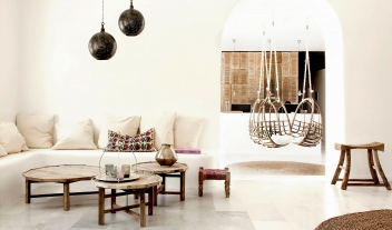 San Giorgio Mykonos Lobby Reception Desk Hanging Chairs M 11 R 2