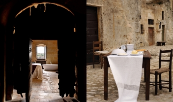 Sextantio Le Grotte Della Civita Bedroom View Dining Detail M 06 R