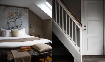 Stallmastaregarden Bedroom Interior Loft Staircase M 07 R