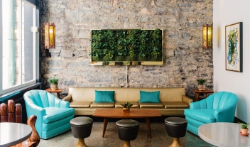 The Dwell Lobby in Chattanooga