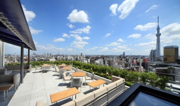 The Gate Hotel Kaminarimon Architecture Terrace Skyline View M 07 R