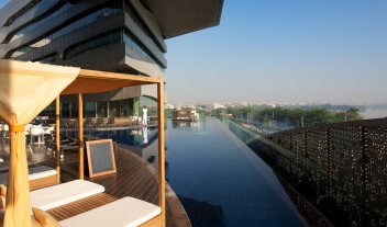 The Park Hyderabad View Over Pool And City M 14