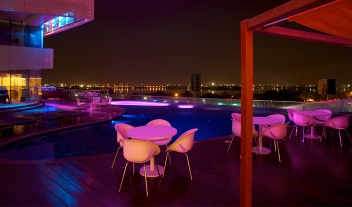 The Park Hyderabad View Over Pool And City Night M 15