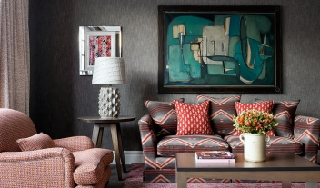 The Soho Hotel Living Room Sofa Interior Design Painting M 03 V01