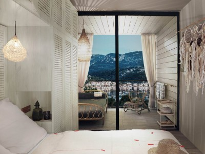 Bay House Room, Bikini Island and Mountain Port de Soller