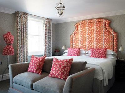 Charlotte Street Hotel Deluxe Room Interior in London