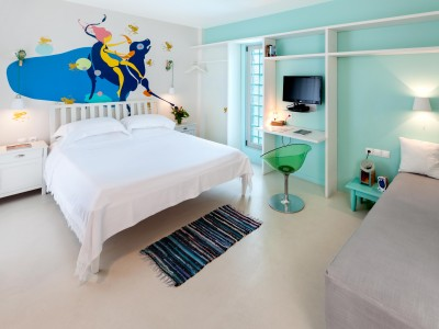 Ekies All Senses Resort Bedroom in Halkidiki