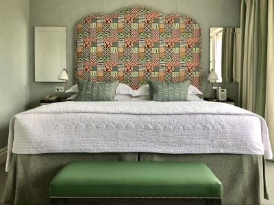 Ham Yard Hotel, Firmdale Hotels, Green Pattern Bed in London