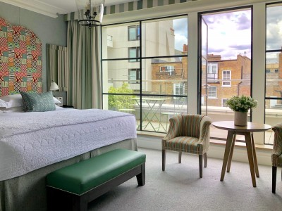 Ham Yard Hotel, Firmdale Hotels, Balcony Window in London