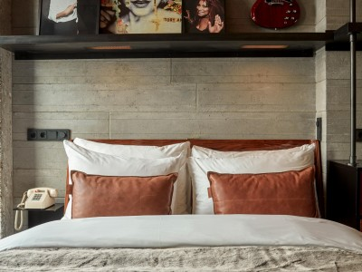 Sir Adam Hotel Leather Pillows in Amsterdam