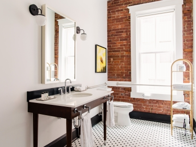 The Dwell White Bathroom in Chattanooga