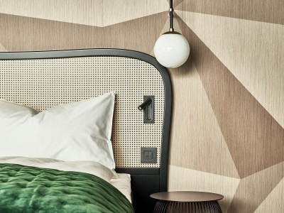 The Hide Hotel Flims Bed design details in Flims