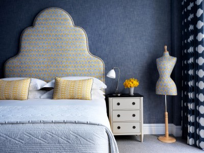 The Whitby Blue Wallpaper in New York City