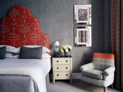 The Whitby Red Headboard in New York City
