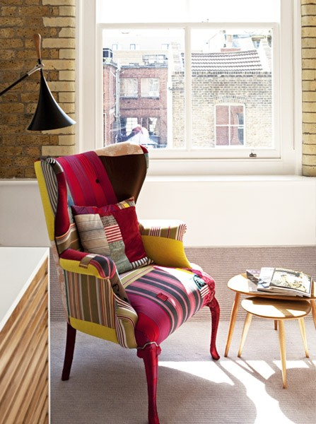 Boundary Sir Terence Conran and Peter Prescott chair lamp corner