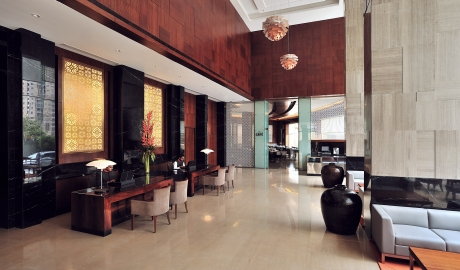 Anya hotel gurgaon india design hotels for Hotel entrance decor