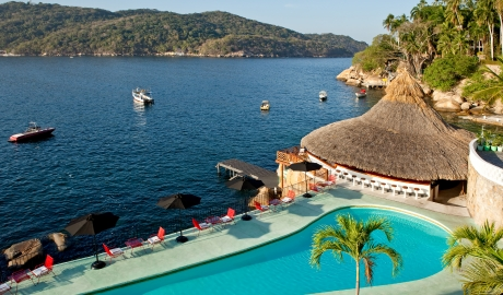 Boca Chica Pool View in Acapulco