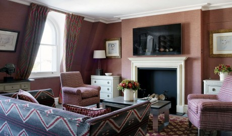 Charlotte Street Hotel Guestroom Living Room Interior Design in London