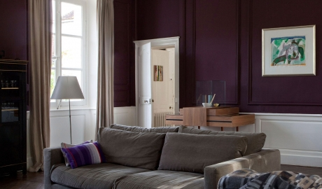Chateau de la Resle Purple Wall in Burgundy