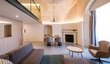 Cugo Gran Macina Grand Harbour Suite Living Room in Senglea