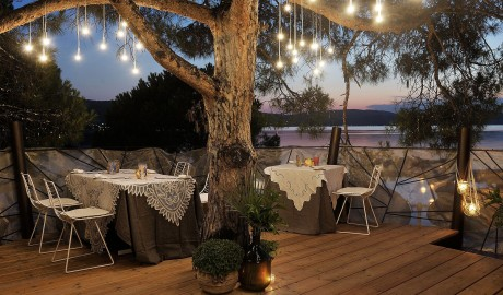 Ekies All Senses Resort Dining Tables in Halkidiki