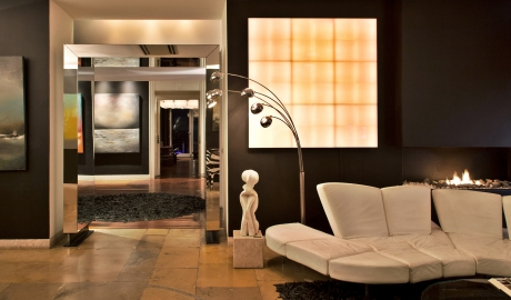 Farol Design Hotel Lobby Sofa Fireplace Interior M 16 R