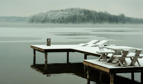 Hotel Galery69 Lake Winter in Stawiguda, Masuria