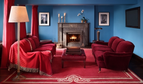 Gramercy Park Hotel Living Room Fireplace Interior Design M 03 R