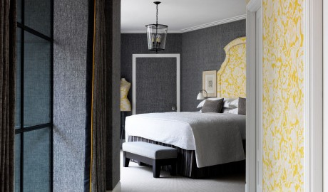 Ham Yard Hotel Yellow Wallpaper in London